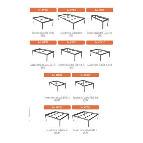 Soporte para mesa gris (100 X 110 CMS)